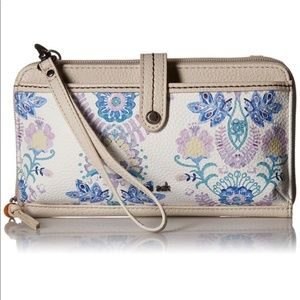SAKROOTS Iris stone flowing floral crossbody NWT